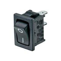 Kolébkový spínač SCI R13-66C-02 s aretací 250 V/AC, 6 A, 1x zap/zap, černá, 1 ks