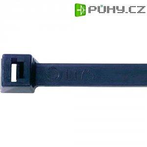 Stahovací pásky UV odolný, 375x 7,6 mm, černé, Thomas & Betts, 100 ks