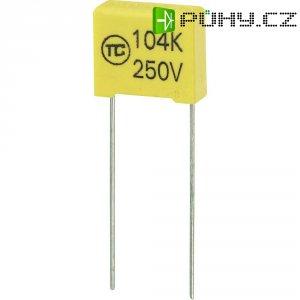 Foliový kondenzátor MKS, 0,1 µF, 250 V, 5 %, 13 x 6 x 12 mm