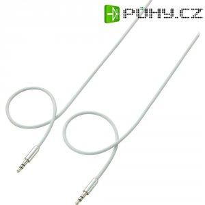 Připojovací kabel SpeaKa, jack zástr. 3.5 mm/jack zástr. 3.5 mm, bílý, 1 m