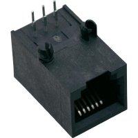 Konektor do DPS BEL Stewart Conn. SS64600-020F, zásuvka vestavná horiz., Snap-In, černá