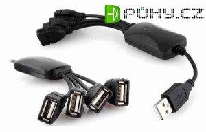 USB HUB kabelový 4 portový