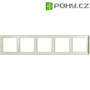 Krycí rámeček Jung, LS985W, pětinásobný, krémově bílá