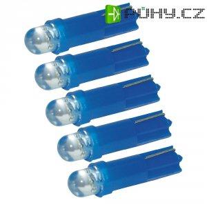 LED žárovky pro osvětlení přístrojů Eufab, 13290, 1,2 W, T5, modrá, 5 ks