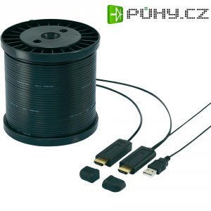 HDMI LWL hybridní kabel Speaka, 491106, HDMI zástrčka ⇔ HDMI zástrčka, 30 m