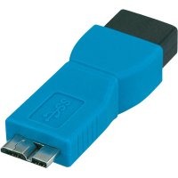 Sériový adaptér USB 3.0, modrý