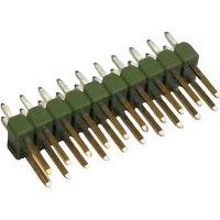 Kolíková lišta MOD II TE Connectivity 826925-6, přímá, 2,54 mm, zelená