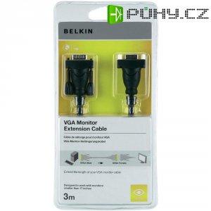 VGA Belkin prodlužovací kabel k monitoru, 3 m, černý