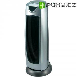 Sloupový topný ventilátor PTC,1000/2000 W, stříbrná