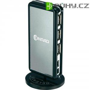 USB 2.0 hub, 7-portový, stojící/ležící
