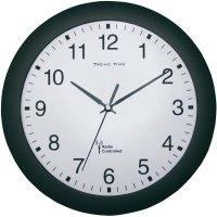 Analogové DCF nástěnné hodiny, 56781, Ø 30 x 4,5 cm, černá