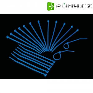 Stahovací pásky UV reaktivní Conrad 549972, 53 mm, modrá, 20 ks