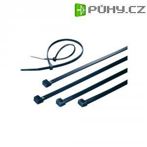 Stahovací pásky UV odolné KSS CVR200AW, 200 x 3,6 mm, 100 ks, černá