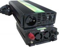 Měnič 12V/230V+UPS 600W,modif.sinusovka,CARSPA. Nespíná měnič.