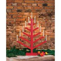 Svícen ve tvaru vánočního stromu Konstsmide, červený