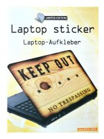 Samolepící dekorace na notebook Keep out
