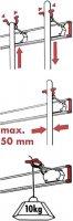 Lišta s držáky a háčky Bruns 60457, 0,5 m