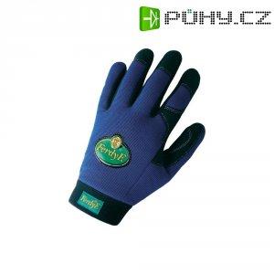 Pracovní rukavice CLARINOR - syntetická kůže, velikost M (8), modré