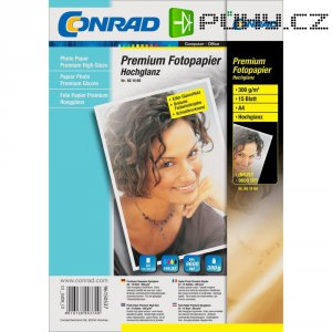 Conrad fotopapír A4,190 g, 15 listu