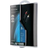 Připojovací kabel Belkin, cinch zástr./cinch zástr., černý, 1 m, pozl.kontakty