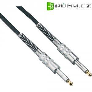 Instrumentální kabel JACK 6,3 mm Paccs, 0,5 m, černá