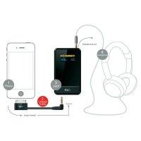 Adaptér 3,5 mm jack pro iPod, iPhone, iPad FiiO L9, 5,5 cm, úhlový