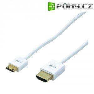 HDMI kabel, zástrčka/zástrčka mini C, bílý, 1,5 m