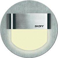 Vestavné LED osvětlení SKOFF Rueda, 10 V, 0,8 W, teplá bílá, nerez