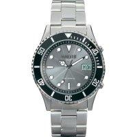 Ručičkové náramkové DCF hodinky Eurochron EFAUS 102, pásek z nerezové oceli, solární