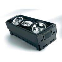 Vestavné svítidlo Sygonix Bari AR111 34483Y, 3x 100 W, G53, černá