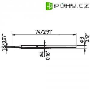 Pájecí hrot Ersa Typ 212 KD LF, 1.8 mm