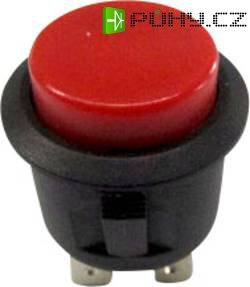 Tlačítko SCI, R13-527A-02RT, 250 V/AC, 6 A, vyp./(zap.), červená
