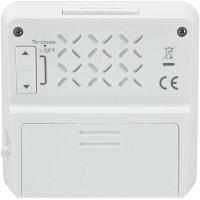 Digitální DCF budík, RC123X, 80 x 80 mm, bílá