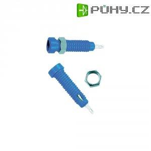 Laboratorní konektor Ø 2 mm MultiContact 23.0050-23, zásuvka vestavná vertikální, modrá