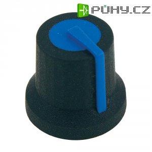 Otočný knoflík Cliff CL170827BR, pro sérii K87MAR, 6 mm, hladký, černá