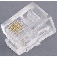 Konektor do DPS BKL Electronic RJ45 (10-NT 004), zástrčka rovná, AWG 26, transparentní