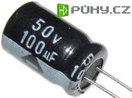 100u/50V 85° 8x12x3,5mm, elektrolyt.kondemzátor radiální