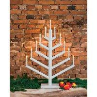 Svícen ve tvaru vánočního stromu Konstsmide, bílý