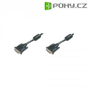 Kabel DVI vidlice ⇔ vidlice, 24+1 pin, 5 m, černý