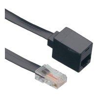 ISDN prodlužovací kabel Wentronic, 4žilový, 10m, černá