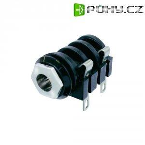 Jack konektor 6,35 mm mono Neutrik NMJ4HC-S, zásuvka vestavná horizontální, 2pól., černá