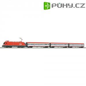 Startovací sada H0 osobního vlaku InterCity a elektrické lokomotivy Taurus Piko 96947