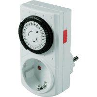 Spínací zásuvka s časovačem GAO, 3680 W, IP20, analogová, denní