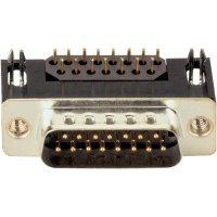 D-SUB kolíková lišta s EMI filtrem Assmann A-DS 15 A/KG-F, 15 pin, úhlový