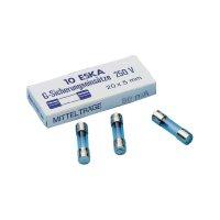Pojistka trubičková středně pomalá -mT- 10 A 250 V ESKA 10 ks