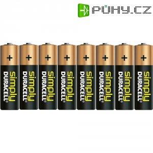 Sada alkalických baterií Duracell Simply, typ AA, 8 ks