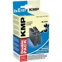 Cartridge KMP E107D = 2x EPSON T0711, 1607,0021, černá