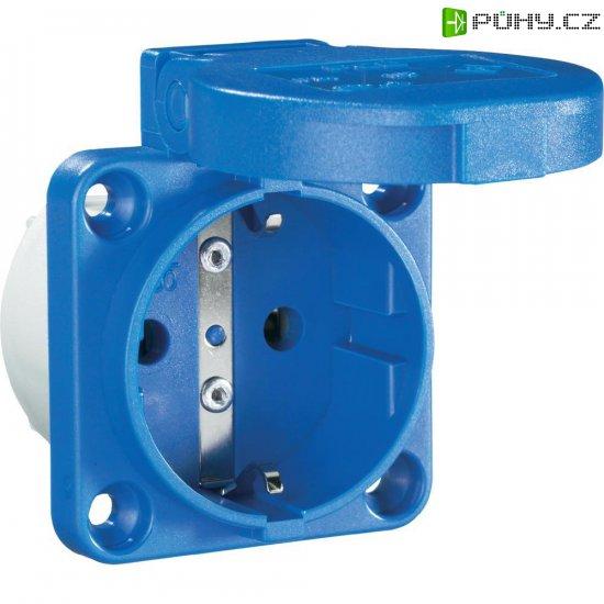 Zásuvka se sklopným víkem PCE för Maskin 601.450.06, IP54, modrá - Kliknutím na obrázek zavřete