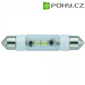 LED žárovka Signal Construct MSOE083964, 24 V DC/AC, bílá, podlouhlá