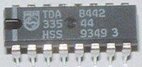 TDA8442 - obvod pro řízení dekodéru barev DIL16